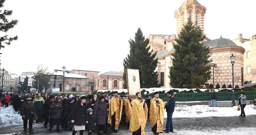 Sfantul Antonie cel Mare, praznuit in centrul Capitalei